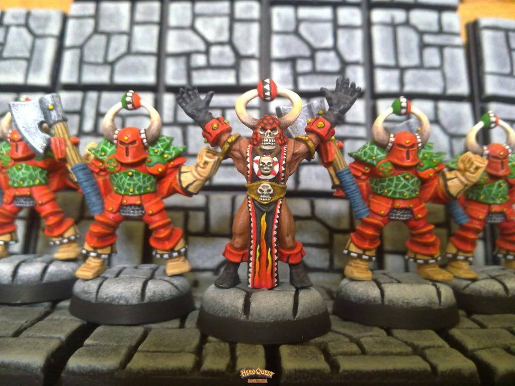 HeroQuest Chaos Sorcerer and Chaos Warriors